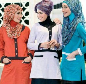 baju kerja wanita muslim 2017