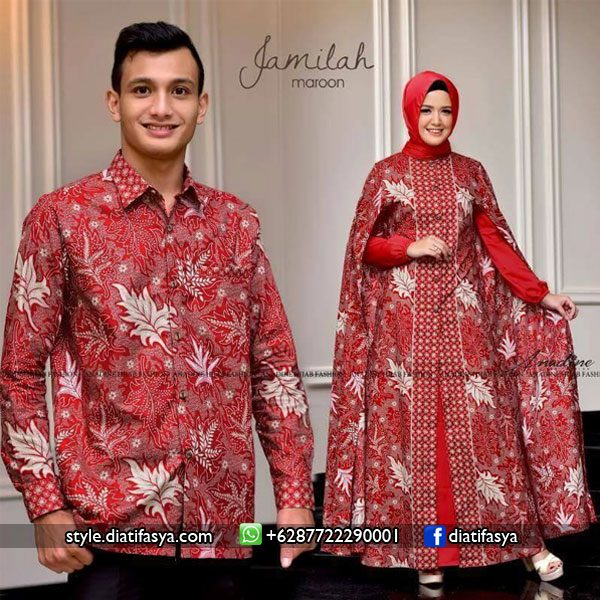 baju couple batik 2017 anadine hijab fashion