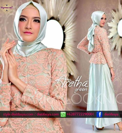 dress muslima untuk pesta 2017