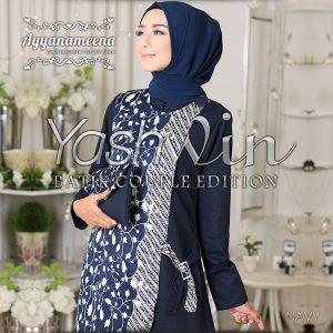 baju batik wanita hijaber 2017