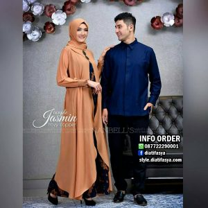 baju muslim couple lebaran 2017 jasmine couple set