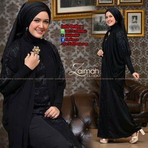 dress muslim terbaru 2017 hitam Zaimah