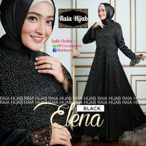 dress pesta muslimah terbaru 2017