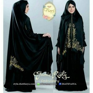gamis risty embroidery fiori hijab