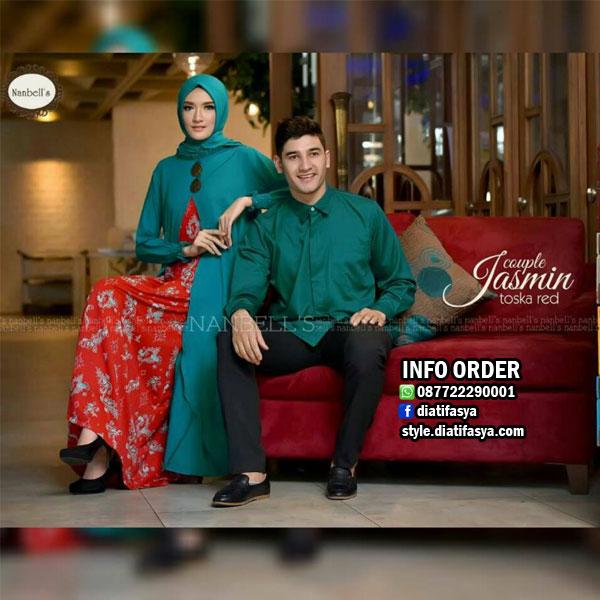 trend gamis lebaran 2017 jasmine couple set