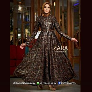 dress pesta muslimah 2017 permium