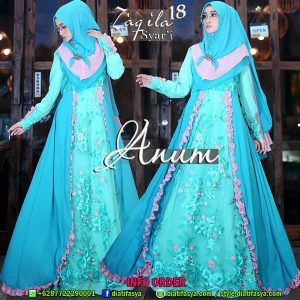 dress pesta syari 2017 2018