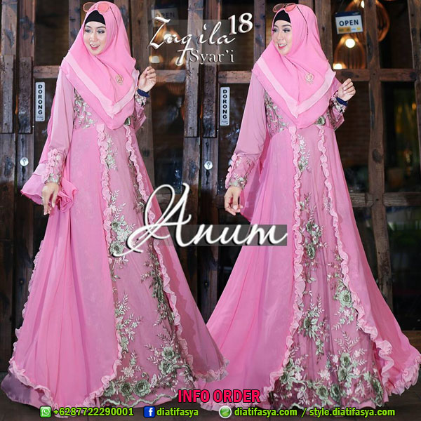 Dress Syar I Gamis Syar I 2017 2018 Zaqila 18 By Anum