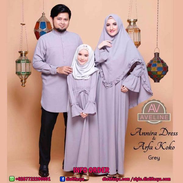 Baju Muslim Keluarga Family Set Aveline Online Branded