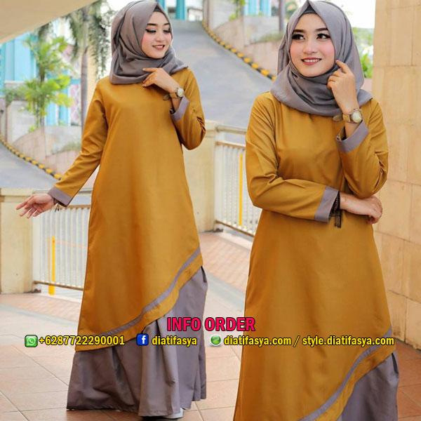 Baju Muslim Casual 2017 2018 Model Gamis Katun Jepang