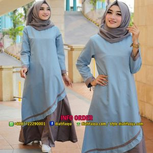 dress casual muslimah 2017